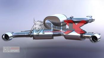 BULL-X VAG02 Y-Style Abgasanlage für div. VAG