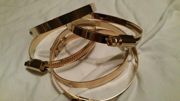 Tuning Hoppe Schlauchschelle Gold 60 - 80 mm