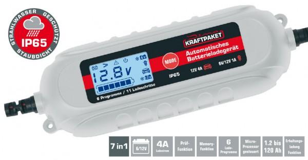 DINO KFAFTPAKETE Batterieladegerät 6V/12V · 4A mit Polklemmen & Ringösenkabel