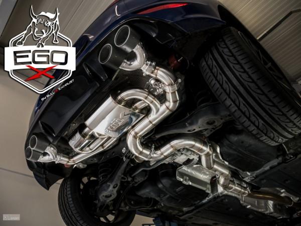 EGO-X 3,5 Zoll Abgasanlage ab Kat für Golf 7R mit EWG