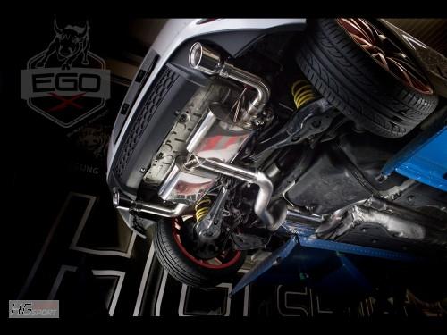 """EGO-X """"Race"""" Abgasanlage ab Kat für VW Golf 7 GTI"""