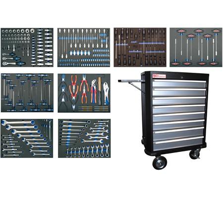 BGS Werkstattwagen 4100 komplett mit 296 Werkzeugen bei tuning-hoppe.com