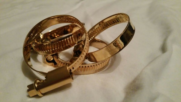 Tuning Hoppe Schlauchschelle gold 25 x 40 mm