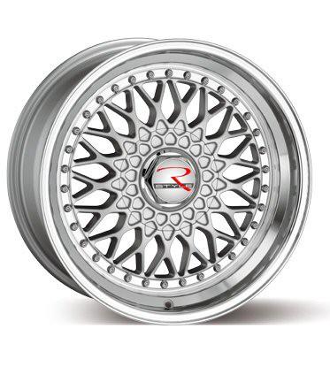 RS01 Silber Hornpoliert Lochkreis 4 x 100
