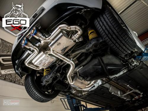 EGO-X Abgasanlage ab Kat für VW Golf 7 GTI im R32 Look