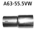 Bastuck Endschalldämpferadapter auf Serienanlage Ø 55.5 Audi A1 8X A1 8X 1.4l Turbo
