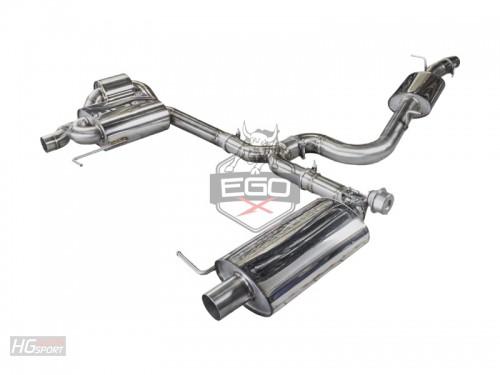 EGO-X Abgasanlage ab Kat für VW Golf 7 R Variant