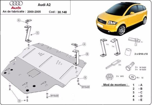 Tuning Hoppe Stahlunterfahrschutz für Audi A2 bei tuning-hoppe.com